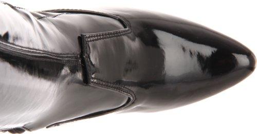 Pleaser Seduce-3050 Damen Kurzschaft Stiefel Schwarz (Schwarz (Blk Str Pat))