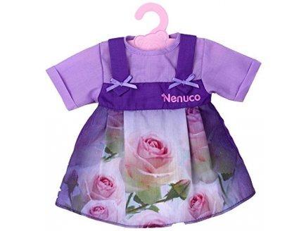 Nenuco t16821 : Robe Violette avec des Roses - Habit Poupee 42 cm - Vetement Poupon