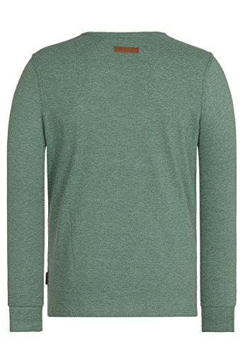 Naketano Male Sweatshirt Italienischer Hengst Langen IV ine Green Melange