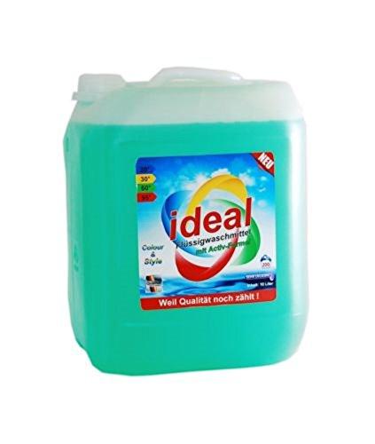 ideal Universal Flüssigwaschmittel mit Aktiv-Formel Gel Konzentrat 10 Liter