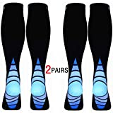 Calves Kelson (2 Pairs) Compression Socks/Stockings for Men & Women.Speed Recovery BEST Graduated Athletic Fit for Travel
