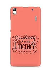 Amez Simplicity is the best form of Efficency Back Cover For Lenovo K3 Note