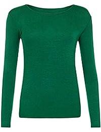 06fa7436edb Amazon.es  Verde - Camisetas de manga larga   Camisetas