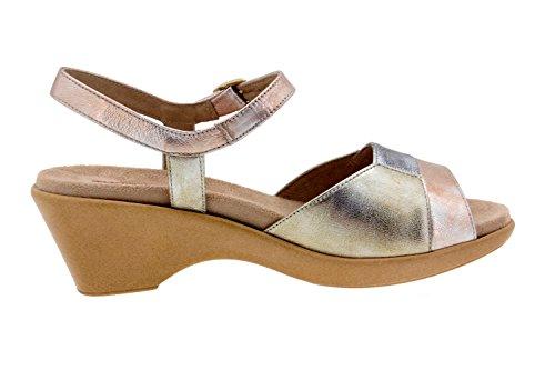 Scarpe donna comfort pelle Piesanto 4852 sandali soletta estraibile comfort larghezza speciale Cobre