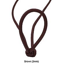 3mm, 6mm, 8mm, 10mm, elástica elástico cordón elástico, cuerda elástica cuerda de lona de recorte para canotaje, vela, artesanía, ropa, deportes al aire libre Actividades, color dorado metálico y plateado y nuevo diseño & fluorescentes estilos., látex, Brown (3mm), One Reel (23.5 meters)