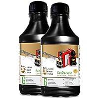 EcoDescalk 2 x 500 ml. Descalcificador para Todas las Cafeteras. Todas las Marcas, Bosch, Nespresso, Krups, DeLonghi, Tassimo. 12 descalcificaciones. Producto CE.
