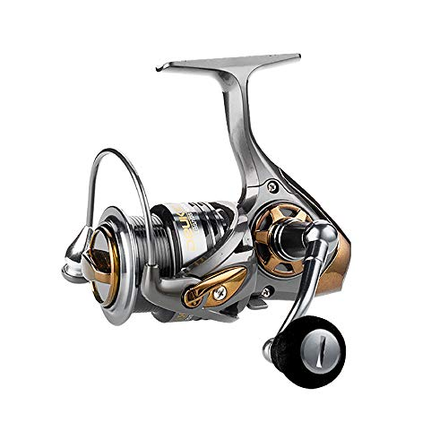 Gububi Angelrollen, Lager 5+1BB Angelrolle 2000-3000 High Speed Ratio 7.1:1 Double Cup Blackfish Spinning Wheel New Upgrade Flat Cup Road Asian Wheel, Metall, 3000