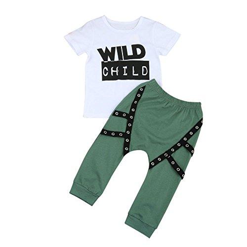 sunnymi Kleidung ★ Boys Letter Tattoos Sets ★O-Ausschnitt/Winter 2017/Kurzarm Baby Kinder (24 Monate)