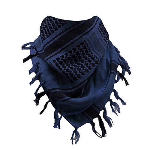 FREE SOLDIER Tactical Shemagh Schal Arabischen Baumwolle Wüste Kopf Schal für Herren und Damen, Blau
