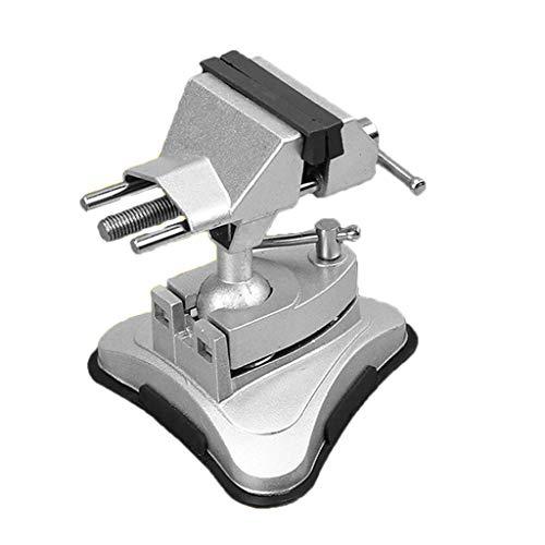 F Fityle Vakuum-Saugstock Schraubstock aus Aluminiumlegierung 360 Grad drehbar Heimwerker Werkzeug