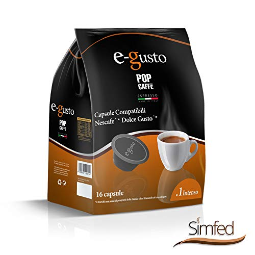 Pop caffè e-gusto .1 intenso 160 capsule