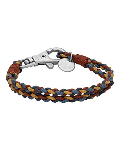 Voylla Multicoloured band bracelet with twisted thread designing For Men  available at amazon for Rs.259