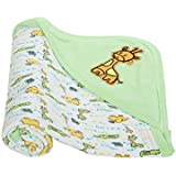 Mee Mee Warm and Soft Wrapper Blanket with Hood, Green
