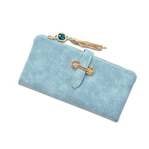 4dd2c329ec76 GSAYDNEE RFID Blocking Women PU Leather Wallet Lady Clutch Purse  Portatarjetas (Color : Blue)