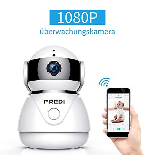 IP Kamera Indoor WLAN 360,1080P FREDI IP HD Camera,Haustier Kamera,Baby Camera Monitor,Cloud Speicherung,mit Bewegungserkennung Nachtsicht