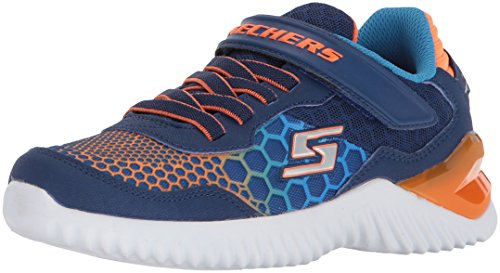 Skechers Ultrapulse Schnelle Verschiebung Jungen Velcro Sporttrainer 33 EU Navy/Orange (Orange Athletic Tape)