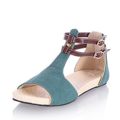 LvYuan Da donna-Sandali-Formale Casual-Altro Comoda-Piatto-Finta pelle-Giallo Verde Rosa Beige Green