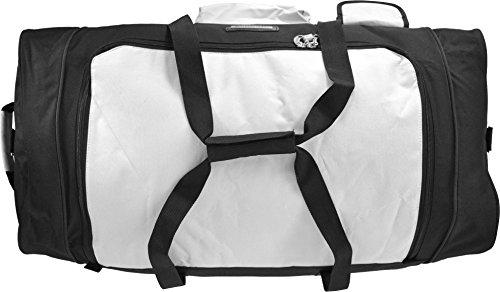 Reisetasche Rollenreisetasche Trolley Trolleytasche Reisetrolley Sporttrolley Koffertrolley Schwarz/Weiß