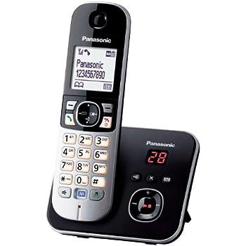 Panasonic Solo KX-TG6821FRB Téléphone Numérique sans fil DECT avec Répondeur Wi-Fi Noir