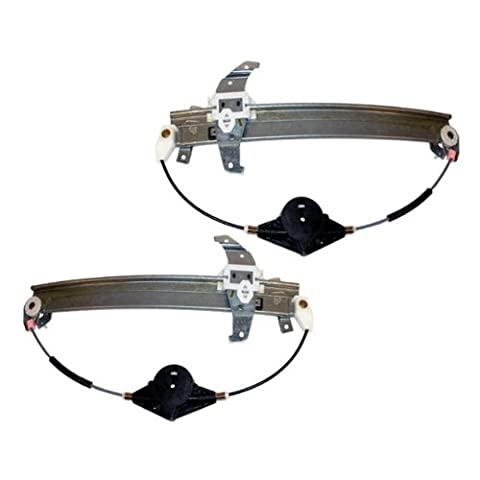 94-97 Lincoln Town Car Front Power Window Regulator Without Motor Pair Set by Aftermarket Auto Parts