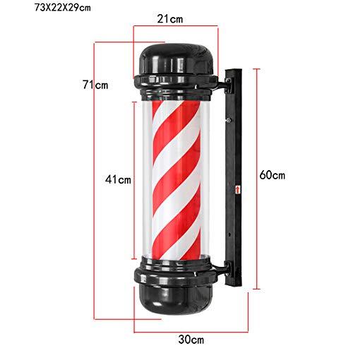 Hochwertiger Rotating Barber Shoppfahl Mit Pfeilform Für Den Friseur - Rot Weiß 29x73 CM