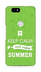 Amez Keey Calm and Enjoy Summer Back Cover For Huawei Nexus 6P