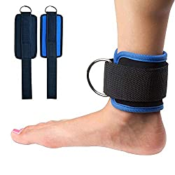 Seasaleshop Cable Strap Ankle Straps, 2Building Footstraps for Fitness Training on Cable Ties - Ankle Straps for Women and Men,