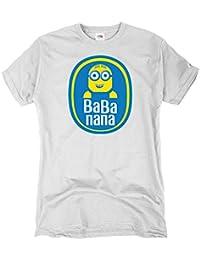GIOVANI & RICCHI Herren Big Minion Theory T-Shirt Banana sheldon bang bazinga bbt tbbt minions howard rajesh