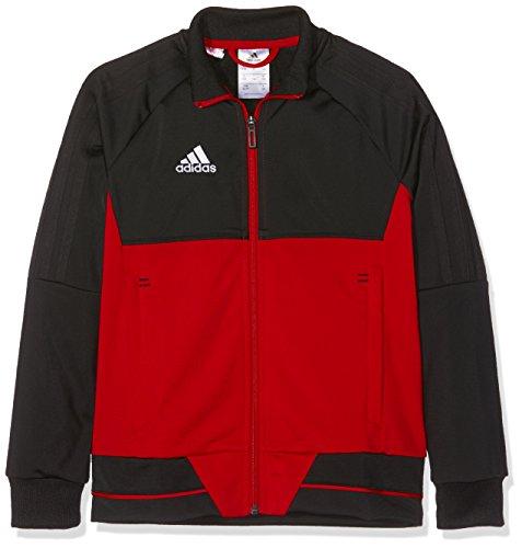 adidas Kinder Tiro 17 Trainingsjacke, Black/Scarlet/White, 116