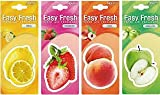 #1: DELHITRADERSS Pack of 4 Hanging car Perfume Air Freshner Assorted Fruit Flavours