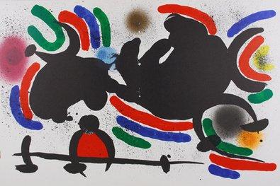 Joan Miro Litografia-litog Rafia Original IV