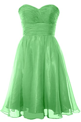 MACloth 2017 Strapless Chiffon Short Bridesmaid Dress Cocktail Party Formal Gown Minze