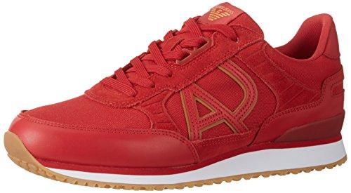 Armani Jeans Herren 9350287P424 Sneaker, Rot (Red 1463), 42 EU (8 UK)