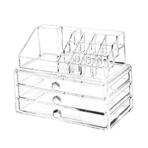 Imported Acrylic Lipstick Holder Cosmetic Organizer Storage Makeup Box Drawer Clear