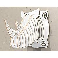 Trofeo testa rinoceronte legno arredo design casa negozio loft - Art déco