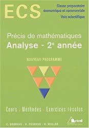 Analyse 2e année ECS