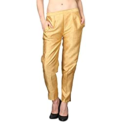 Shararat Fashionable Cotton Silk Narrow Bottom Casual Ethnic Trousers for Girls / Women / Ladies