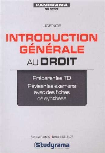 Introduction générale au droit par Nathalie Deleuze