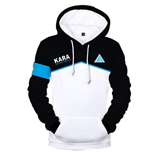 CTOOO 2018 Detroit Become Human Druck Damen Herren Hoodies Sweatshirt Paare Kapuzenpullover XXS-XXXXL (Detroit Jacke)