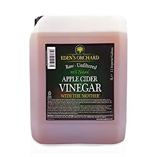 Eden's Orchard Apple Cider Vinegar with The Mother - Raw and Unfiltered - 5 Litre Jerry Can - 1.1 Imperial Gallons