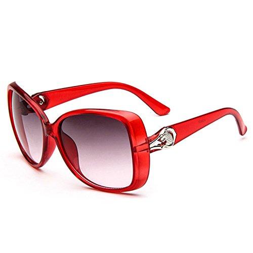 attachmenttou Damenbrillen Lady Retro Mirrored Cheetah Anti-UV-Sonnenbrillen Brillen Luxus