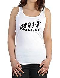 Damen Trägershirt Golf   Lustige Sport Sprüche Tanktop : Evolution   That S  Golf!