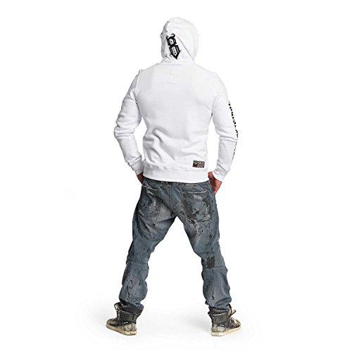 Yakuza Original Herren Trade Of Kings Hoodie Kapuzenpullover Weiß