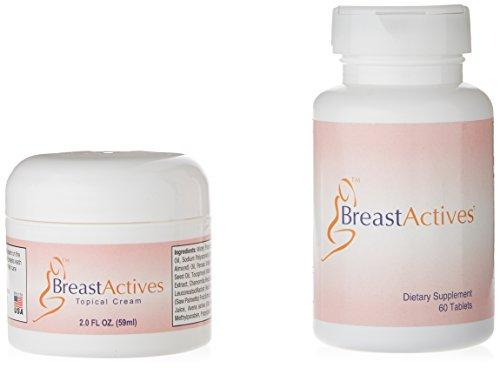 1 Unze Unterstützt (Breast Actives 1 KIT Brustvergrösserung Kit 1-60 Tablet Flasche und 1-2 fl Unze Glas-Creme)