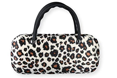 Brillenetui Damen wie kleine Handtasche samtige Oberfläche wie Fell - auch innen Leopard