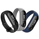 Anjoo [3 Pièces Bracelet Xiaomi Mi Band 4/ Mi Band 3, Remplacement Sangle Bracelet Accessoires en Silicone de Bracelet pour...