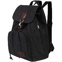 4ef3065b3b570 Fletion Retro Segeltuch Rucksack Vintage Rucksack Reisen Lässige  Umhängetasche Handtasche College Daypack Satchel Computer Laptop Taschen