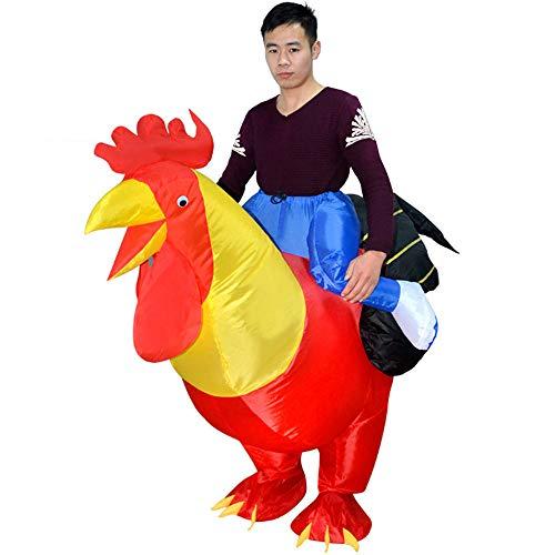 QSEFT Aufblasbares Hahnhuhnkostüm Halloween-Partei-Fantastisches Kostümtierkostüm Für Erwachsenen ()