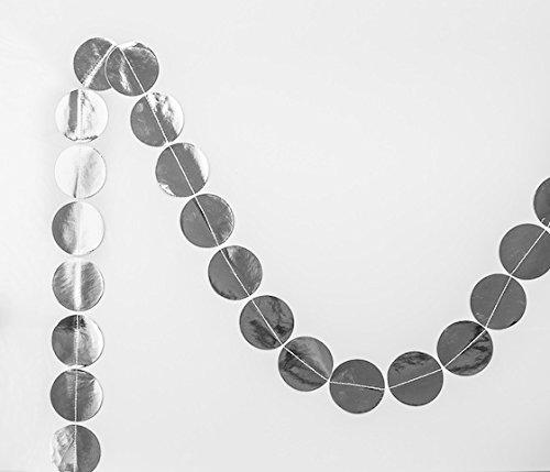 Schicke Konfetti-Punkte-Girlande mit Silber Glänzenden Kreisen für die (Kostüme Australien Weihnachten)