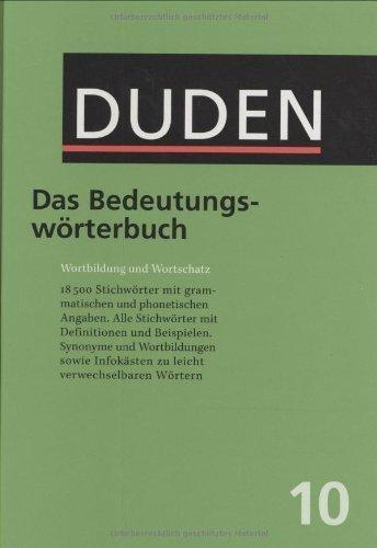 Duden: Das Bedeutungsworterbuch (Der Duden in 12 Banden) (German Edition) 3rd edition by Holek, Wenzel Grazia (2002) Hardcover